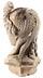 Detail images: Antikisierender Frauenkopf in grauem Sandstein