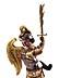 Detail images: Schnitzfigur des Erzengels Michael
