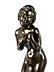 Detail images: Japanische Bronzefigur einer Badenden