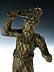 Detail images: Bronzestatuette eines Wilden Mannes