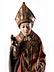 Detailabbildung: Gotische Schnitzfigur des Heiligen Blasius