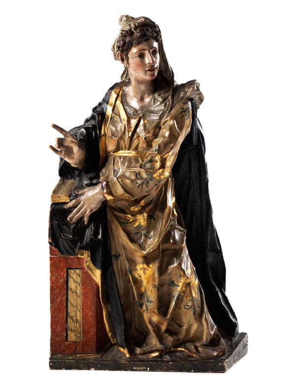 Schnitzfigur Maria Annunciata
