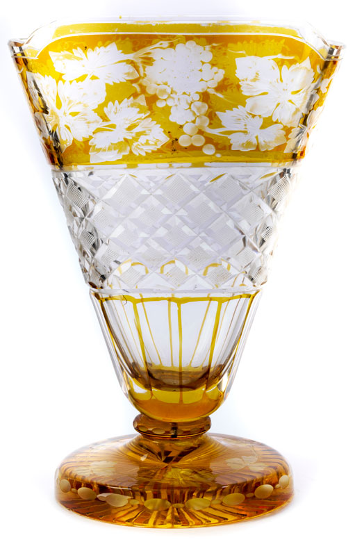 Böhmische Glasvase