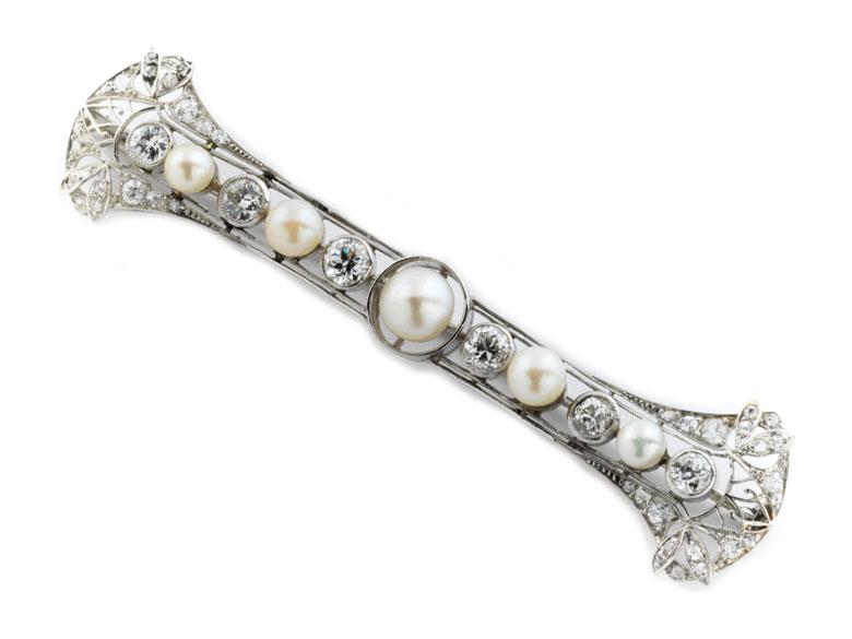 Perl-Diamantbrosche