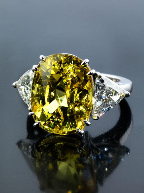 Gelber Saphir-Diamantring