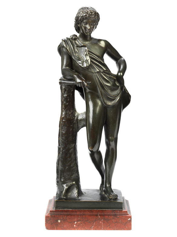 Bronzestatuette Jüngling