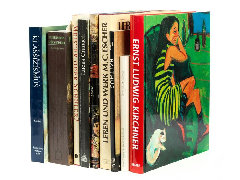 Konvolut von neun Büchern