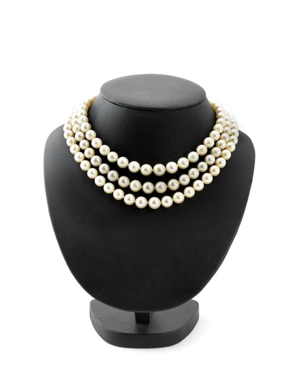 Dreireihiges Perlencollier