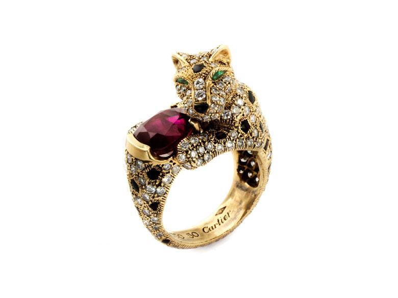 Panthère-Rubin-Diamantring von Cartier