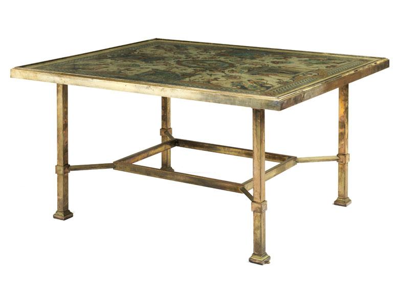 Außergewöhnlicher Tisch mit bemalter Tischplatte