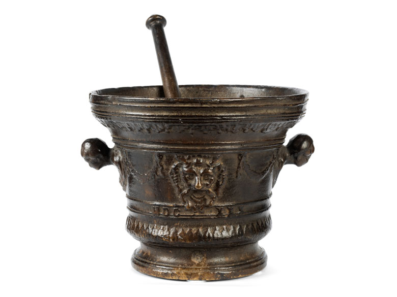 Großer Glockenmörser in Bronze