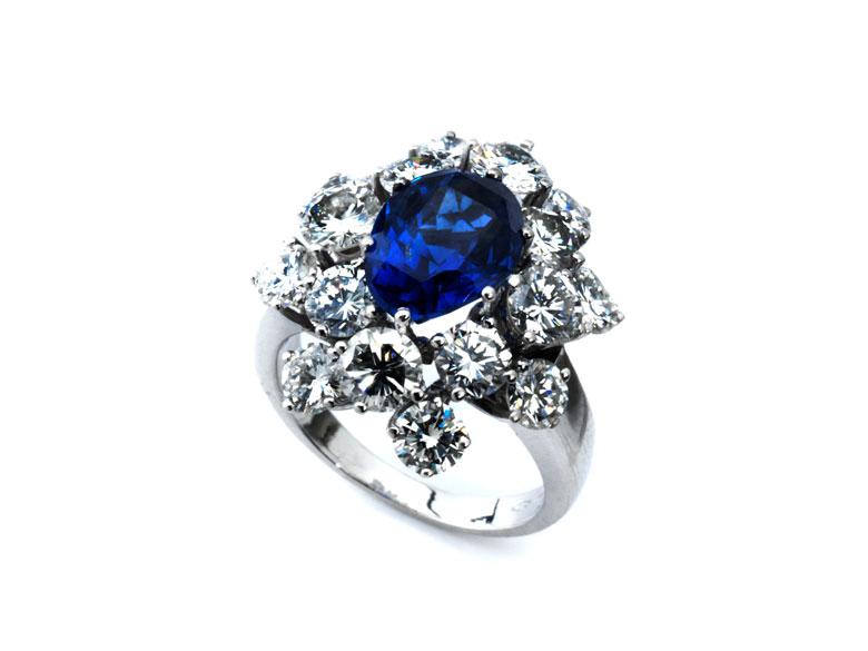 Saphir-Diamantring von Bulgari