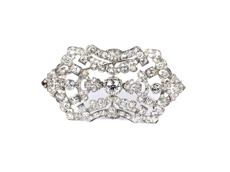 Art déco-Diamantbrosche