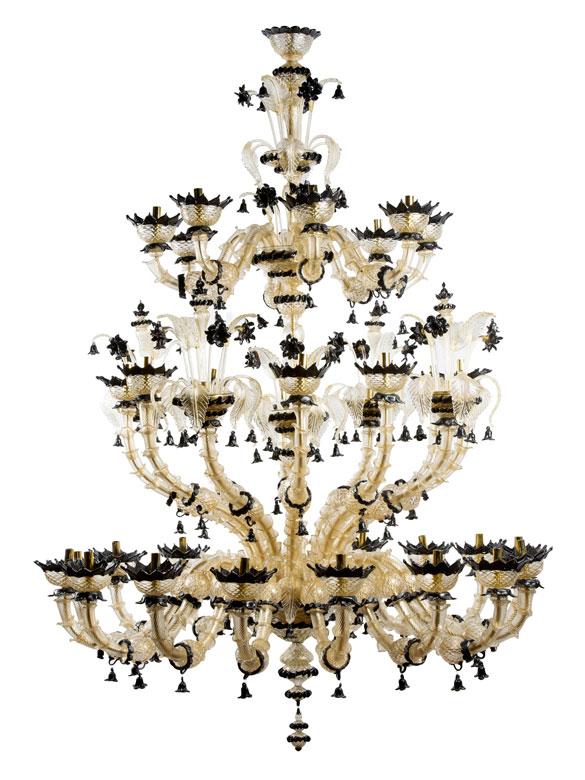 Großer Muranoglas-Deckenleuchter