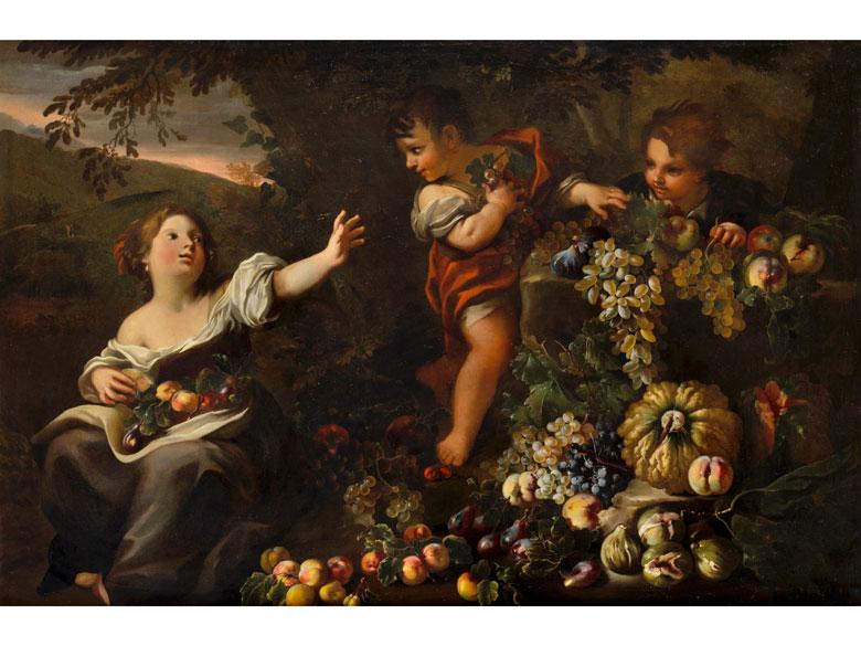 Abraham Brueghel (1631-1697) und Antonio Amorosi (1660-1738)