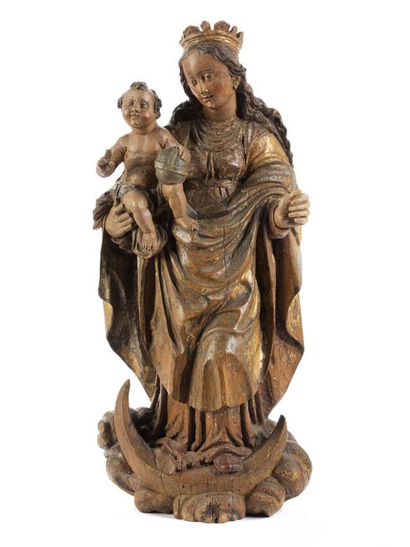 Süddeutsche Mondsichel-Madonna des ausgehenden 17. Jahrhunderts