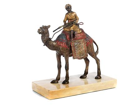 Wiener Bronze eines Kamelreiters