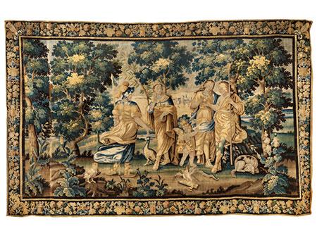 Große Bildtapisserie mit mythologischer Darstellung