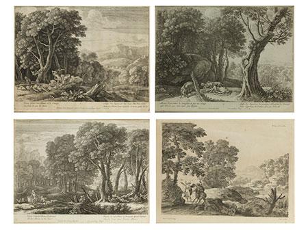 Konvolut von vier Kupferstichen