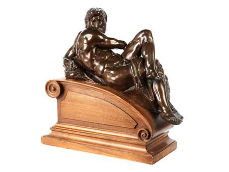 Bronzeskulptur Allegorie des Tages nach Michelangelo