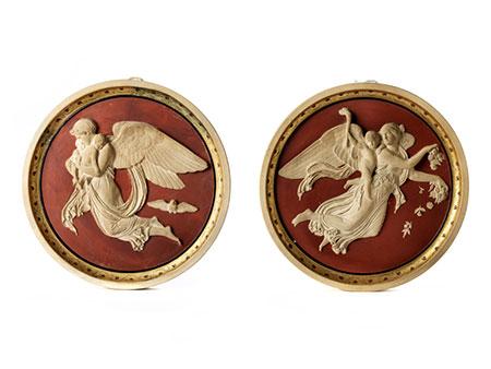 Paar Tondi nach Berthel Thorvaldsen (1770-1844)