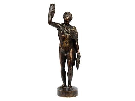 Bronzestatuette Jüngling mit Trauben