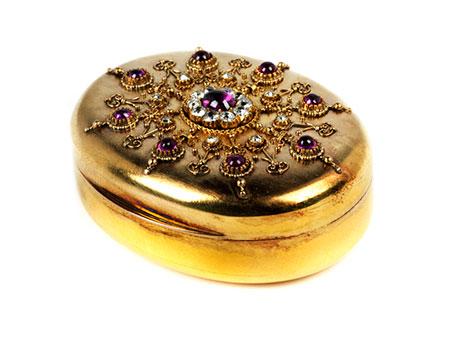 Ovale Golddose