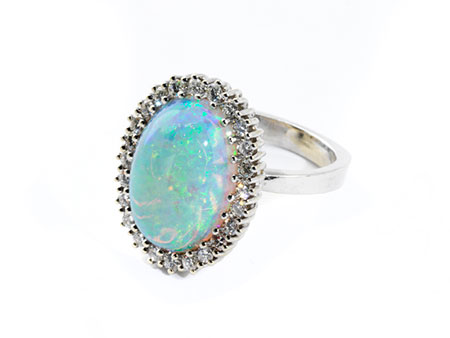 Detail images:  Opal-Brillantring
