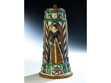 Musealer Nürnberger Prunk-Krug aus der Werkstatt des Paul Preuning