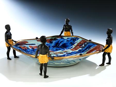 Museale japanische Porzellanschale