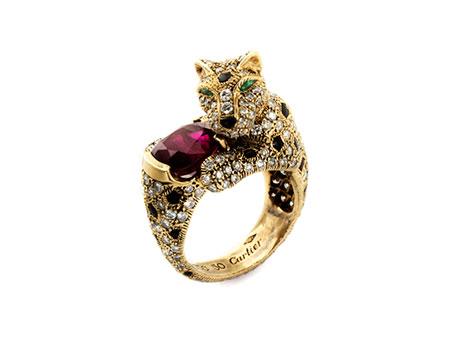 Detail images:  Panthère-Rubin-Diamantring von Cartier