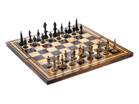 Schachspiel Napoleon gegen Friedrich II.