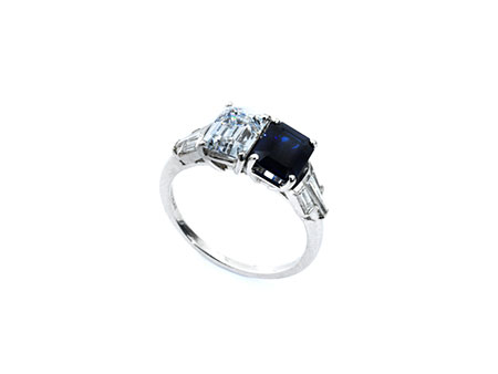 Detail images:  Saphir-Diamantring