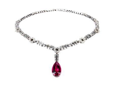 Detail images:  Diamant-Rubellitcollier