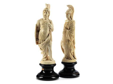 Paar Elfenbeinfiguren