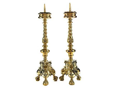 Paar barocke große Kerzenleuchter