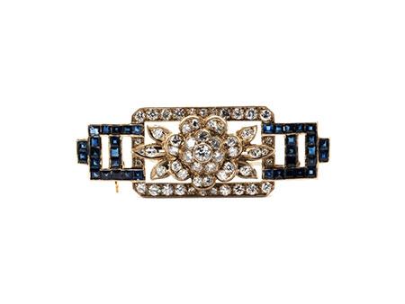 Detail images:  Saphir-Diamantbrosche