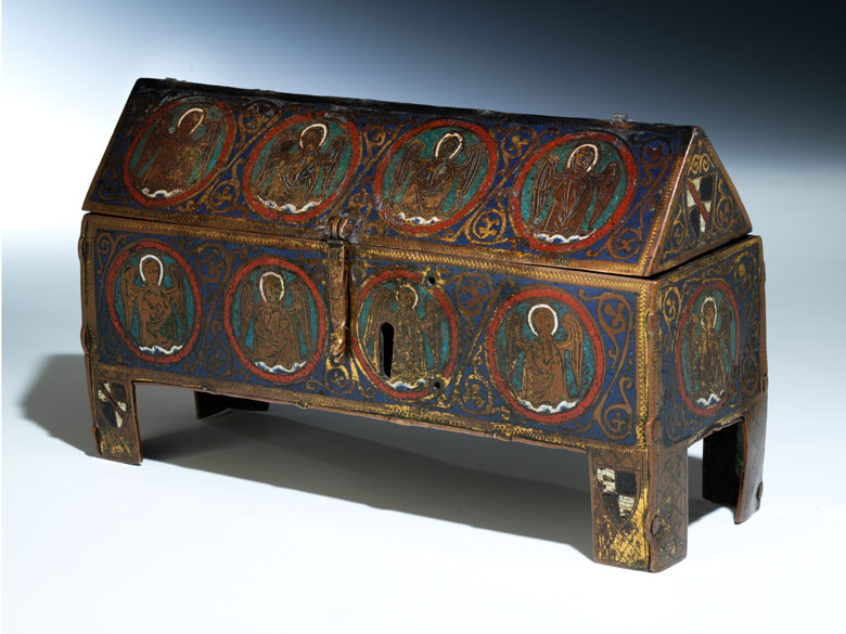 Museales Limoges-Reliquienkästchen