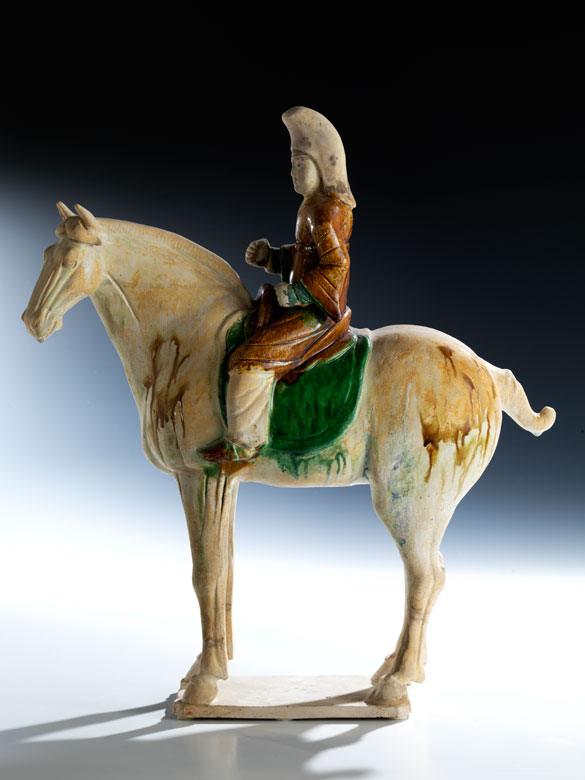 Terrakottafigur eines Reiters