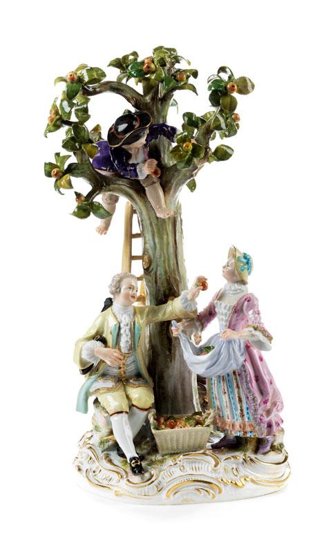 Gärtnergruppe am Baum