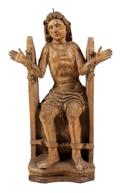 Schnitzfigur des Heiligen Quintus