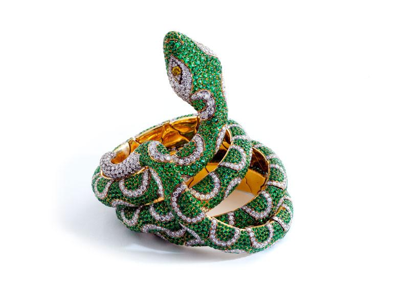 Smaragd-Brillantarmreif von Michele della Valle