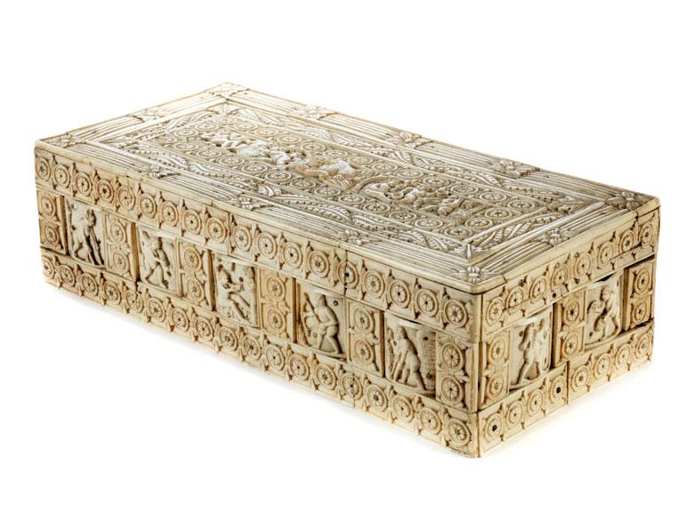 Museale Kassette der frühen Embriachi-Werkstatt