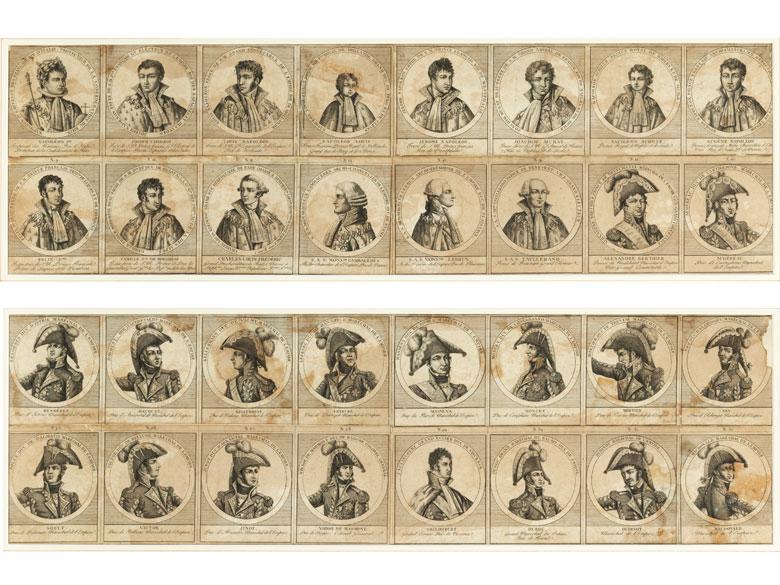 Portraits von Persönlichkeiten der französichen Geschichte der Napoleonzeit