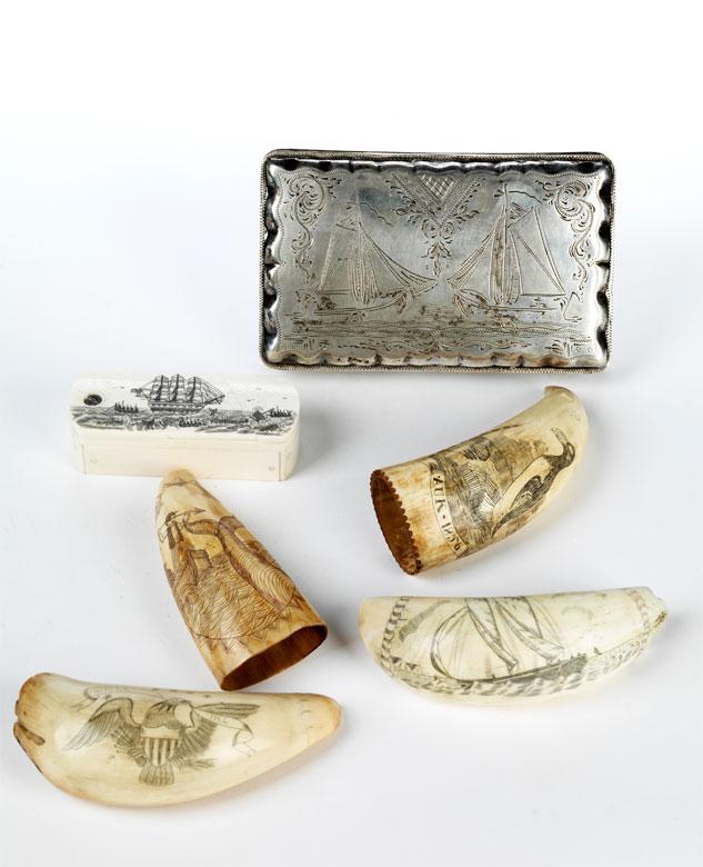 Konvolut von sechs maritimen Memorabilia