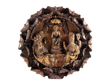 Skulpturenrelief-Tondo
