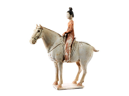 Terrakottafigur einer Reiterin