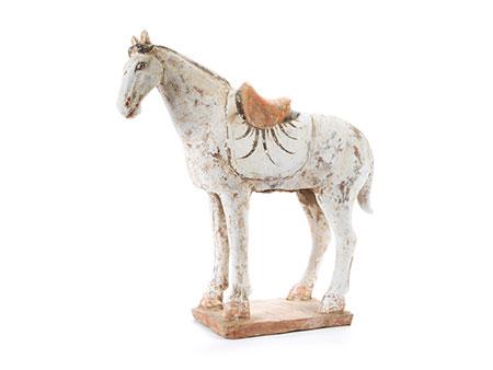 Grabfigur eines Pferdes