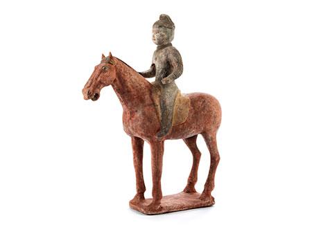 Reiterfigur auf Pferd