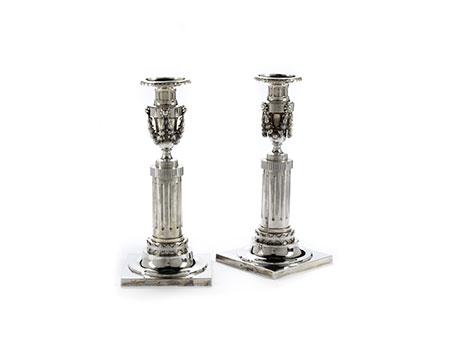 Paar klassizistische Augsburger Leuchter